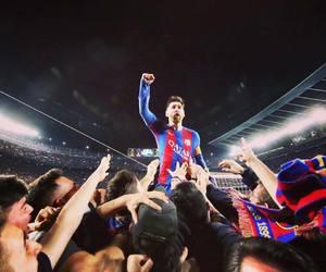 messi, football, and Barca image