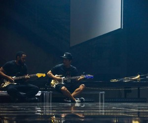 guitars, lights, and bruno mars image
