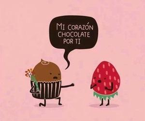 love, chocolate, and strawberry image