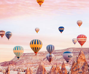 air balloon, landscapes, and nature image