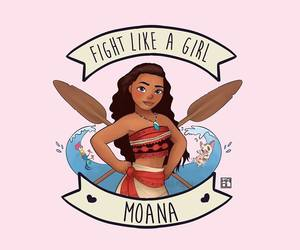 moana, disney, and feminism image