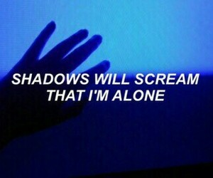 alone, scream, and shadows image