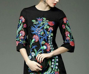dress, pretty, and flower image