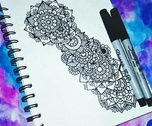 art, mandalas, and zentangle image