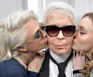 chanel, karl lagerfeld, and model image