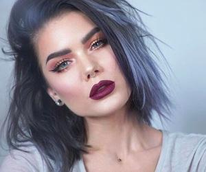 makeup, blue, and girl image