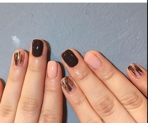 chocolate, korean, and nails image
