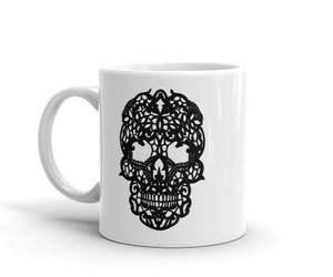 etsy, sugar skull mug, and day of the dead mug image