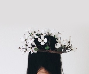 white, flowers, and indie image