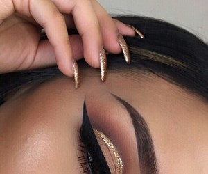 eyes, highlight, and makeup image