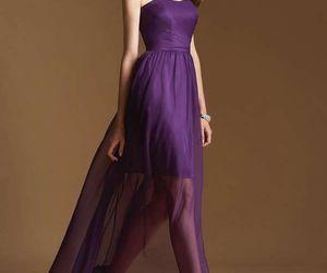 strapless dress, chiffon dress, and bridesmaid dress image