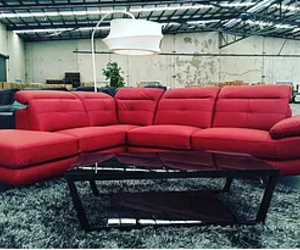 leather chaise lounge and lounge brisbane image