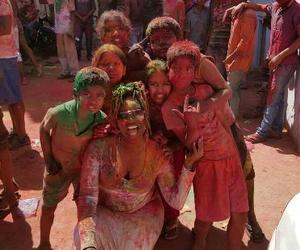 holi, tours, and india image