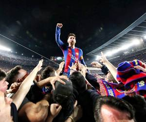 champions league, messi, and fcbarcelona image