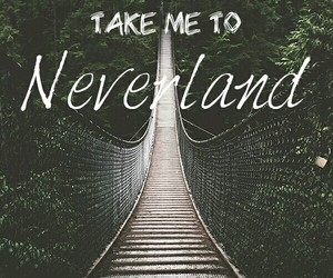 forest, neverland, and peter pan image