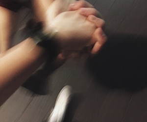 holding hands and friends image