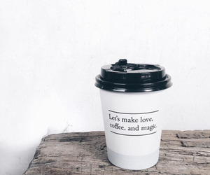coffee, quotes, and magic image