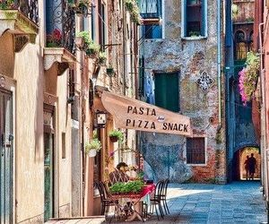 italy, travel, and pizza image