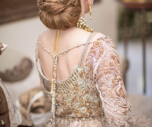 bride, hair style, and wedding image