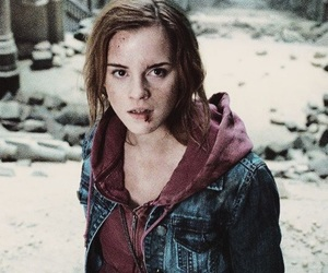 hermione granger, harry potter, and hp image