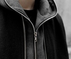 aesthetic, hoodie, and black image