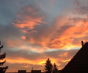aesthetic, orange, and sky image
