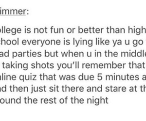 college, drunk, and funny image