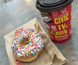 canada, coffee, and donut image