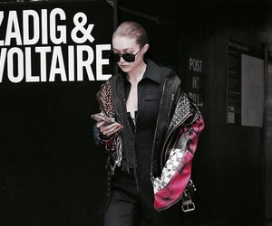 street style, gigi hadid, and zadig & voltaire image