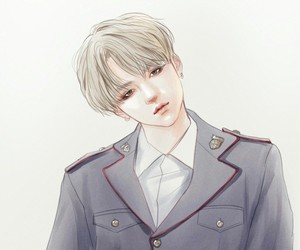 fanart, jin, and bts image