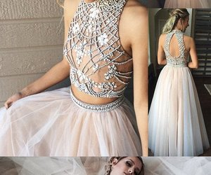 high neck prom dress and prom dress a-line image