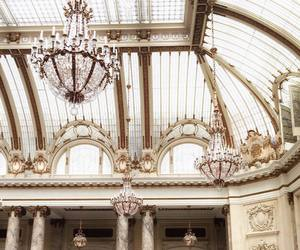 architecture, chandelier, and place image
