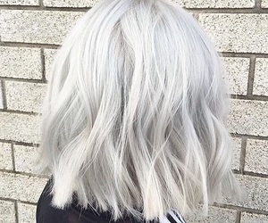 hairstyle, grey, and hair image