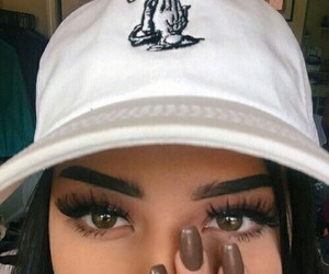 girl, eyes, and nails image