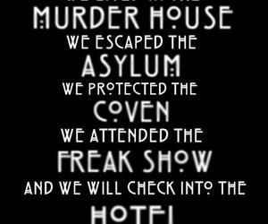 american horror story, asylum, and murder house image
