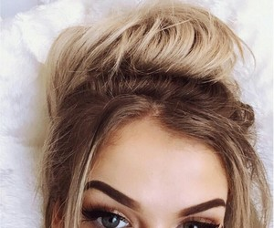 girl, hair, and makeup image