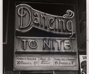 vintage, black and white, and dance image
