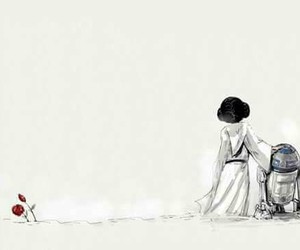 carrie fisher, star wars, and r2d2 image