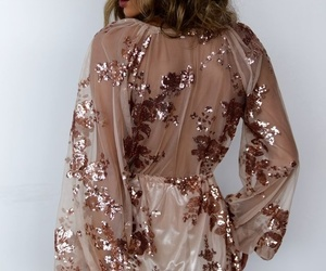 dress, glitter, and outfit image
