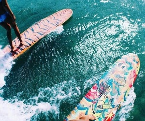 beach, best friends, and surf image