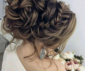 blonde, long hair, and braid image
