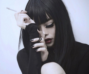 black, cigarette, and grunge image