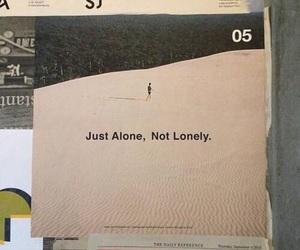 alone, quotes, and theme image