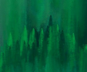 abstract, paint, and verde image