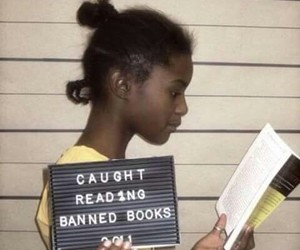 book, reading, and banned image