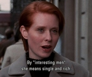 quotes, sex and the city, and funny image