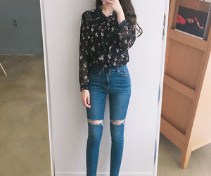 fashion, asian, and casual image