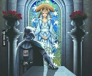star wars, darth vader, and padmé image