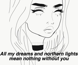 drawings, girl, and Lyrics image