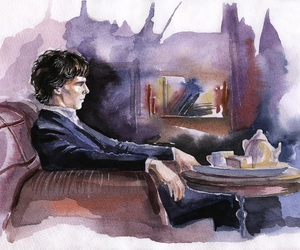 art, bbc, and sherlock image